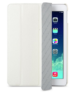Кожаный чехол для iPad Air Melkco Premium Leather case - Slimme Cover Type (White LC)