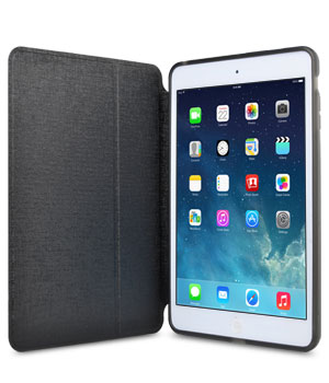 Кожаный чехол для iPad mini 2 Retina Melkco Ultra Thin Leather case - Air Frame (Black LC)