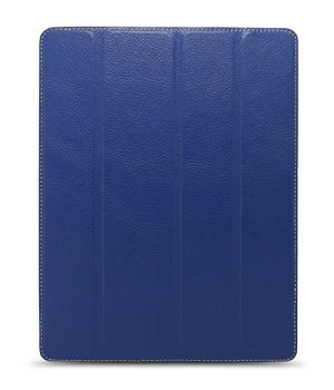 Кожаный чехол для iPad 2/3 и iPad 4 Melkco Premium Leather case - Slimme Cover Type (Dark Blue LC)