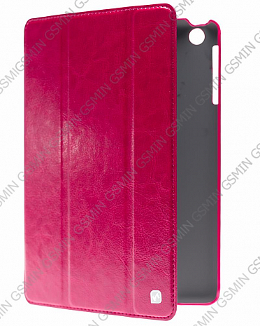 Кожаный чехол для iPad mini / iPad mini 2 Retina / iPad mini 3 Retina Hoco Crystal Leather Case (Малиновый)