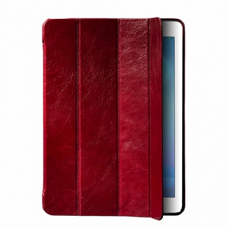 Кожаный чехол для iPad 2/3 и iPad 4 Borofone Deluxe Leather Case (Wine red)