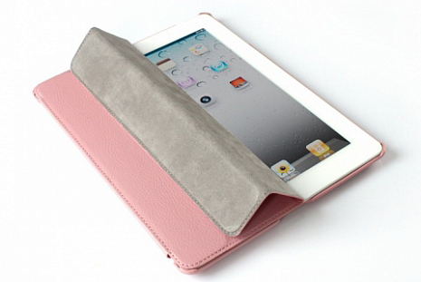 Чехол для iPad 2/3 и iPad 4 D-Lex Smart Leather Case (Розовый)
